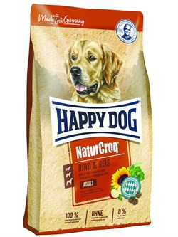 Happy Dog Natur Croq корм для собак Говядина/Рис 15 кг - фото 11053