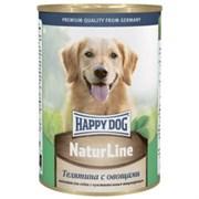 Happy Dog NaturLine консервы для собак из телятины с овощам 400 гр