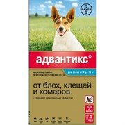 Адвантикс капли от блох и клещей для собак весом от 4 до 10 кг , 1 пипетка