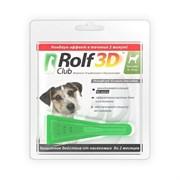 ROLF CLUB 3D Капли от блох и клещей для собак от 4 до 10 кг,1 пипетка