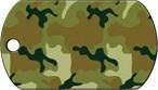 Адресник Военный большой «Камуфляж зеленый»