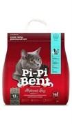Пи-Пи Бент Наполнитель для кошек комкующий морской бриз 5 кг