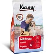 Карми сухой корм для щенков средних пород с индейкой 2кг
