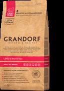 Grandorf сухой корм для собак всех пород ягненок рис 1кг