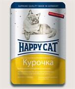 Happy cat паучи для стерилизованных кошек курочка в соусе 100гр