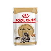 Royal Canin Maine Coon Adult паучи для кошек породы Мейн-Кун кусочки в соусе 85 гр