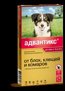 Адвантикс капли для собак от блох и клещей весом от 10 до 25 кг, 1 пипетка