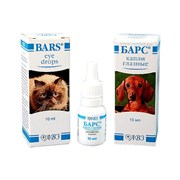 Барс капли глазные для собак/кошек/кроликов 10мл