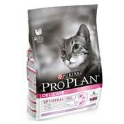 Pro Plan сухой корм для кошек  деликат с индейкой 1,5 кг