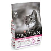 Pro Plan сухой корм для кошек деликат с индейкой 3 кг
