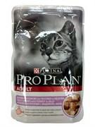 Проплан Adult кусочки в желе для взрослых кошек с индейкой 85г