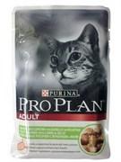 Проплан Adult кусочки в желе для взрослых кошек с ягненком 85г