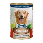 Happy Dog NaturLine консервы для собак телятина/индейка 400г